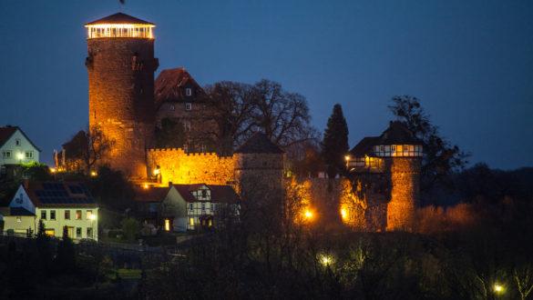 Burg-Trendelburg-nacht